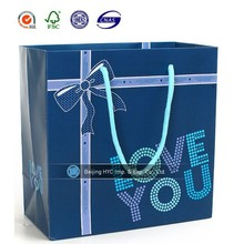 Hot sale customized bag wholesale/ gift paper bag / paper bag handle