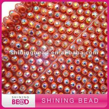one rows plastic trimming with rhinestone