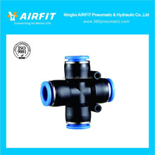 PZ Cross Four Way Pneumatic Pipe Fitting/Tube Fitting/Quick Connecting