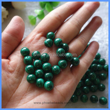 4mm 8mm Half Drilled Round Natural Malachite Loose Beads Gemstone Jewelry Components For Earrings Making HD-MSR4mm