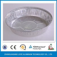 Disposable Best-selling Environmental 8'' Round Deep Half Size Cake Aluminum Foil Tray Deep Tray