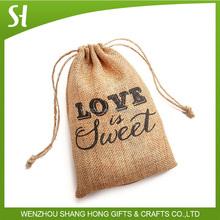 Wholesale Organic Small Hemp Draw String Bags