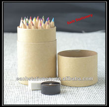 3.5Inches Natural Mini Color Pencil With Sharpener and Eraser In Tube