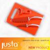 spray-paint orange Santoku knife set kitchen knife