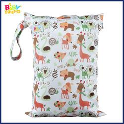 Waterproof Zipper Wet Bag diaper Bag For Baby Cloth Diaper