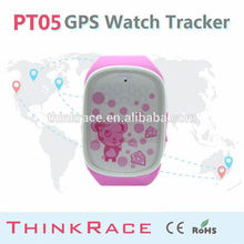 Smart personal gps tracker Gps watch PT05 with phone call/sms alarm