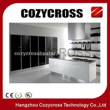 White Black Glass Panel Heater
