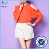 Yihao great deal Lady Women's Fashion Long Sleeve O-Neck Off-shoulder loose casual Tops Blouse