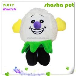 Radish plush squeaker pet toy,pet product,dog toys,dog toys free samples