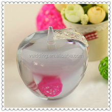 Fashion Crystal Glass Apple Wedding Gift For Best Friends