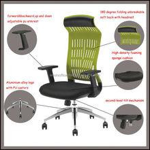 Barato respaldo alto silla de plástico verde de venta al por mayor cómoda silla
