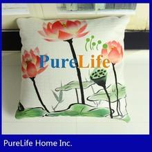 Printed Lotus Design Popular Chinese Style Sofa Cushion