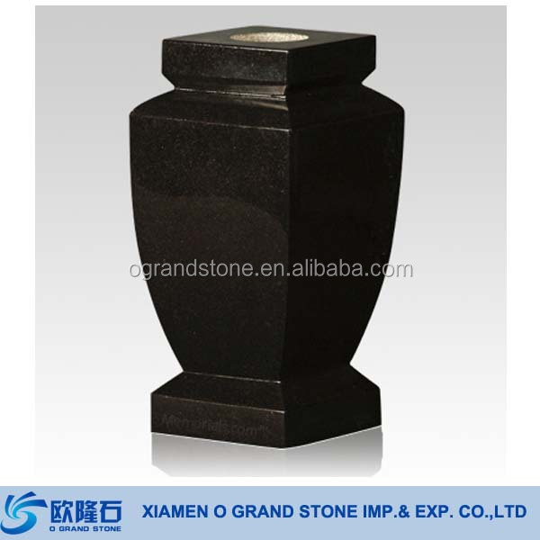Arc Black Granite Flower Vase For Grave Stone Tombstone Buy Vase