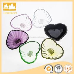 wholesale cheap hand pressed glass fruit plate /dessert plate tabelware/dinnerware