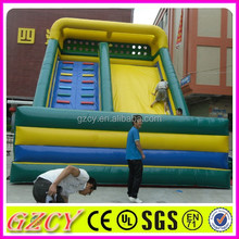 Children used funny slide and climb combo