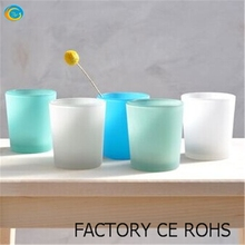 frosted glass votives with colour on the outside 100% on-time shipment protection
