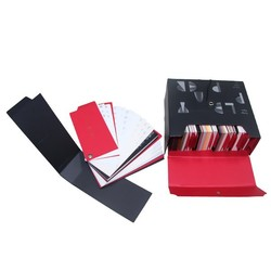 The latest custom made black and red paper cardboard box book packaging design