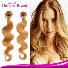 2015 superstar fashion crazy colored no doul odor smooth body wave, Brazilian blonde hair extension