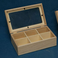 Recyclable Feature and Accept Custom Order nature wood tea box