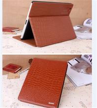 Crocodile grain folio leather flip stand case with sleep wake for iPad Air iPad5
