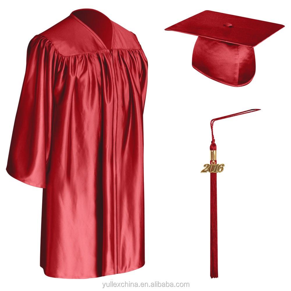 Red Child Graduation Cap,Gown & Tassel - Buy Kids Graduation Set ...