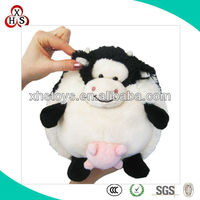 cute soft plush stuffed cow with heart