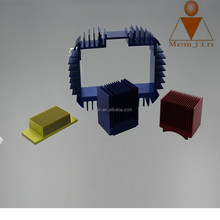 Extruded Aluminum alloy heatsink with anodizing and CNC machining direct from shanghai minjian
