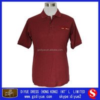 Embroidered LOGO V-Neck Polo T Shirt China Supplier