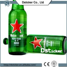 popular asia 2015 transparent beer logo stickers