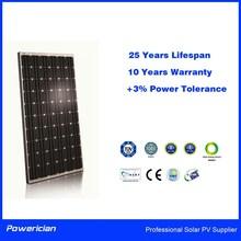 Mono Solar Panel 260Wp Powerician +3% Power Tolerance