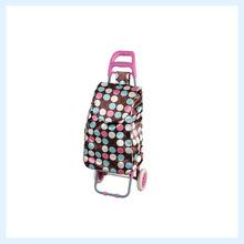 Stock folding wheeled rolling shopping trolley cart bag cheap price