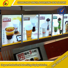 hot sale acrylic acrylic menu rotating light box