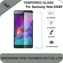 Wholesale Premium Tempered Glass Screen Protector For Samsung Galaxy Note2 Note3 Note4 Note5 Screen Protector Film