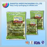 Moisture proof back seal food plastic bag with printing