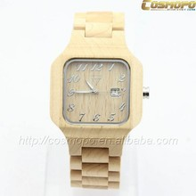 2015 New arrival men wooden branded watch, Popular wood watch strap, Fashion quartz watches for man