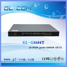 FTTH optical fiber equipment 1U 4-pon gpon olt with management function