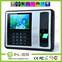 INJES Top quality digital wall clocks fingerprint biometric time attendance security system