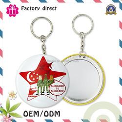 Hot style printing custom logo promotional stainless steel sublimation reflective keychain