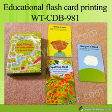 WT-CDB-982 Children playing card with wipe-clear pen