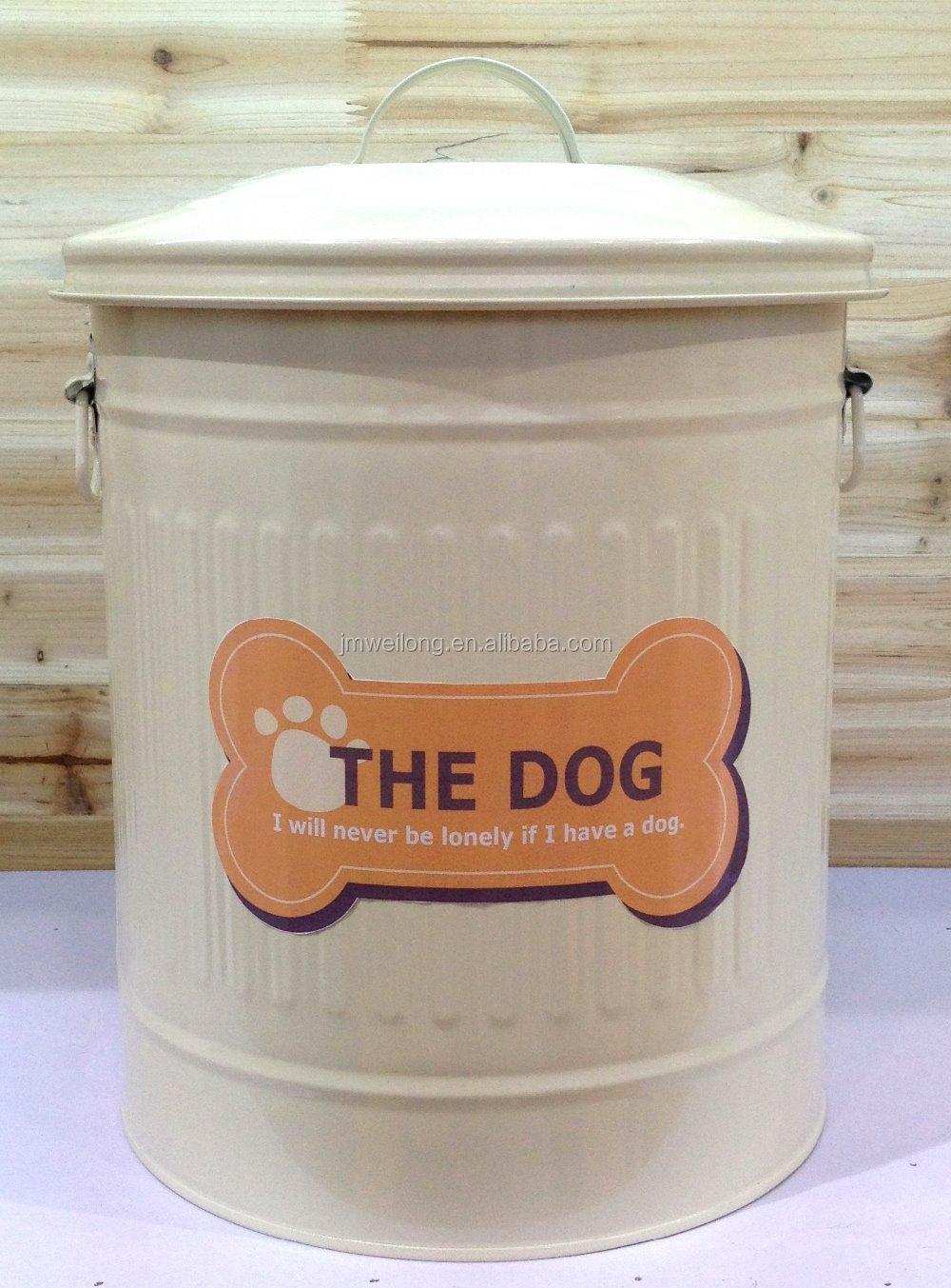 Metal Dog Pet Food Storage Bin Tin Dog Food Container Buy Cheap
