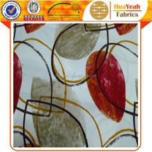 Woven backing leaf design printed tricot velvet fabric for sofa