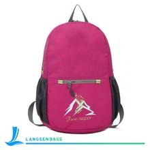 cheap waterproof slim nylon backpack for teens