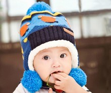 D63206T 2014 korean autumn and winter new style baby's ear protection cap,ball hat