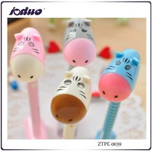 2015 Best Selling Creative Cute Cartoon Printed Ultra Q Small Hair Donkey Can Stand Ball-point Pen