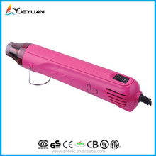 2015 China cheap custom brand DIY animation craft 300W foldable embossing craft heat gun free sample industrial heat gun