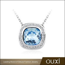 OUXI HappinessSugar blue costume Aus Crystal&Zircon jewelry for engagment 11457-2