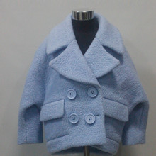 Boys Wool Tween Overcoat Winter Clothing For Kids Customization OEM Type Factory Service Guangzhou