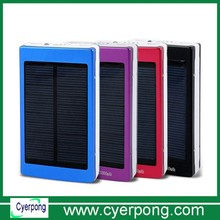 Solar Power Bank Charger Customized 6000~20000mah Solar Mobile Charger Usb Portable Power Bank With LED Flashlight
