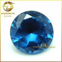 round brilliant cut 8.0mm blue spinel 119# synthetic gemstone