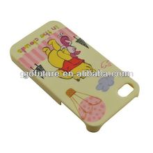 Cute Bear Soft Silicone Case Cover For iPhone 4/4S with little bear
